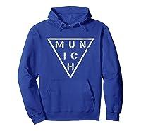 Munich T Shirt Germany Bavarians Distressed Vintage Tee Hoodie Royal Blue