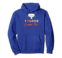 I Love Cream Pies Shirt   Swinger Bdsm Cuckold Creampie Raglan Baseball Tee Hoodie Royal Blue