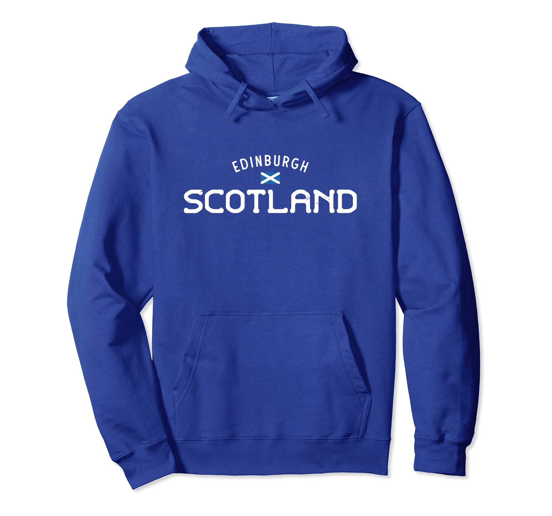 Edinburgh Scotland Hoodie With Distressed Scottish Design-Rose