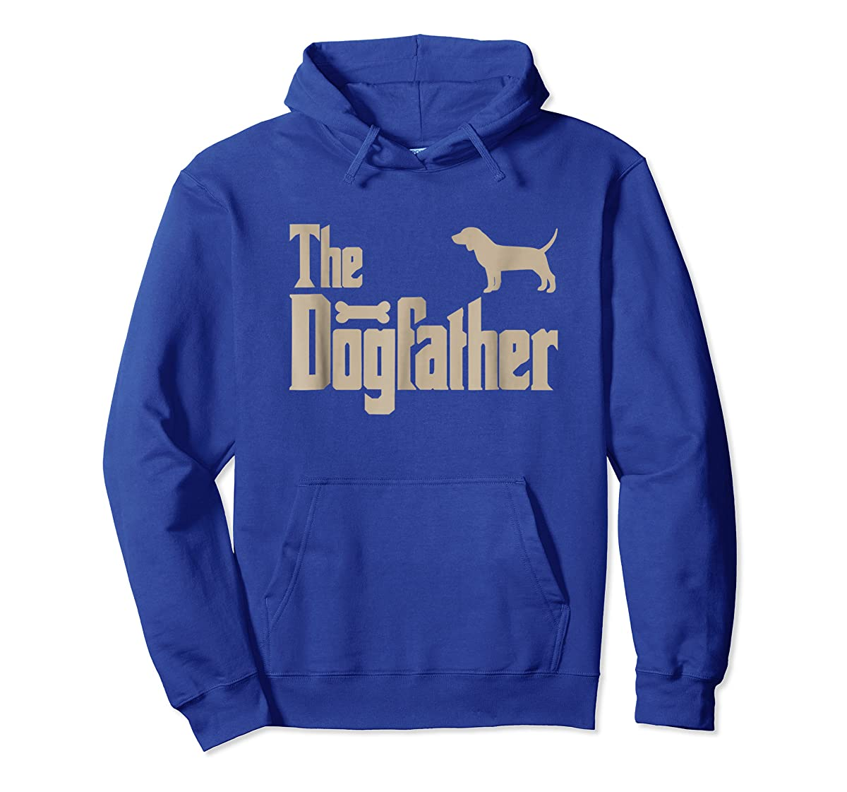 "Mens Beagle Dog Lovers Gifts ""The Dogfather"" Men Tee Shirts-Hoodie-Royal"