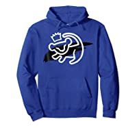 Lion King Simba Cave Painting Smear Graphic Shirts Hoodie Royal Blue
