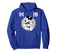 Disney Mickey Mouse Academy T Shirt Hoodie Royal Blue