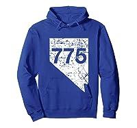 Carson City Reno Sparks Area Code 775 Shirt Nevada Gift Hoodie Royal Blue