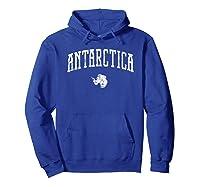 Antarctica Vintage City T Shirt Hoodie Royal Blue