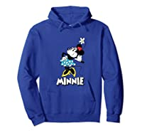 Disney Minnie Mouse Flower T Shirt Hoodie Royal Blue