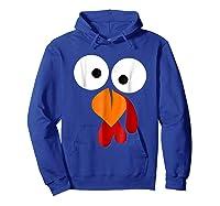 Turkey Face Funny Fun Thanksgiving Day Shirts Hoodie Royal Blue
