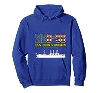 Ddg 56 Uss John S Mccain Shirts Hoodie Royal Blue