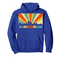 Albuquerque T Shirt City Skyline 70s Retro Souvenir Shirt Hoodie Royal Blue