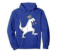 Fourth Of July Dinosaur Shirt Funny Amerisaurus Rex T-shirt Hoodie Royal Blue