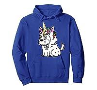 Bichon Frise Unicorn Hat Funny Dog Gift Shirts Hoodie Royal Blue