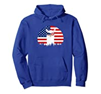 Alpaca Sunglasses American Flag 4th Of July T-shirt Hoodie Royal Blue