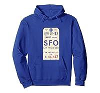 Vintage Baggage Tag For San Francisco Airport Sfo Shirts Hoodie Royal Blue