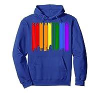 San Antonio Texas Lgbtq Gay Pride Rainbow Skyline T-shirt Hoodie Royal Blue