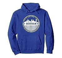 Grunge Buffalo Ny T Shirt Retro Skyline City Hoodie Royal Blue