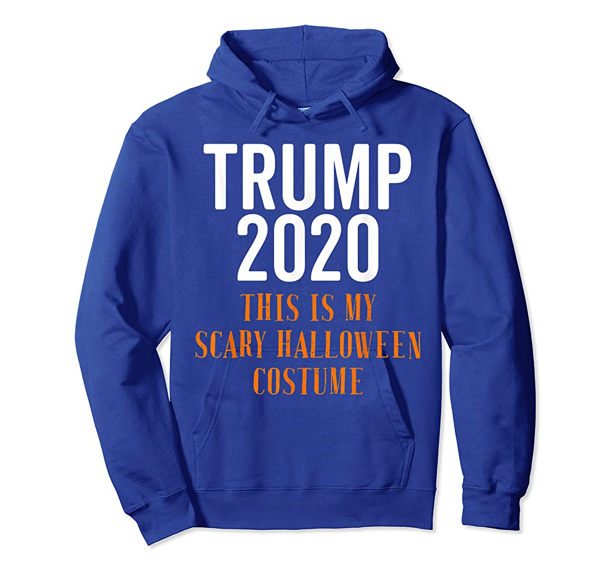 Scary Halloween No More Trump Funny Costume Anti Political T-Shirt-Hoodie-Royal