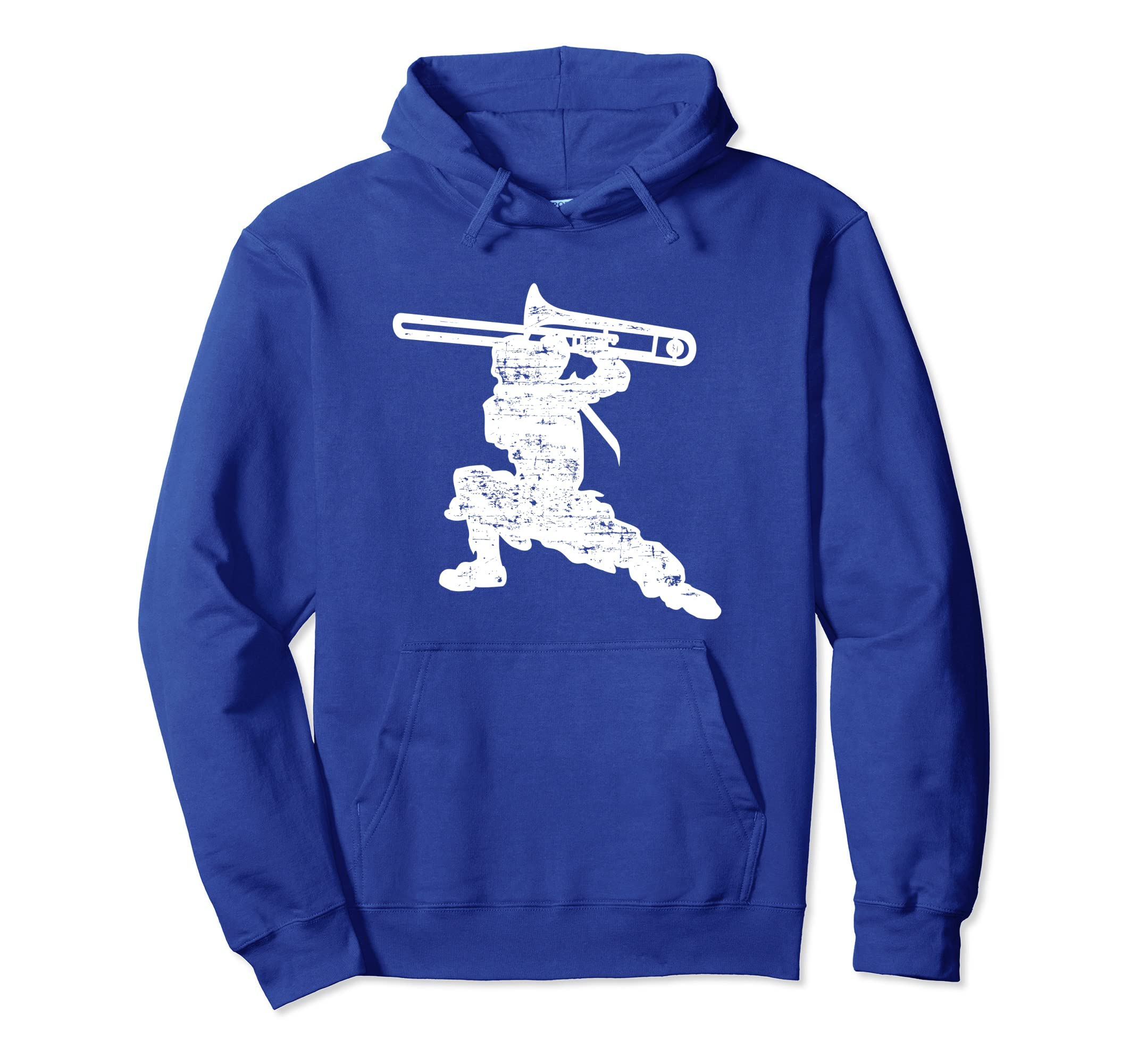 c44a40e1106 Amazon.com  Trombone Ninja Distressed Trombone Hoodie For Trombonist   Clothing