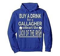 Gallagher Luck Of The Irish Namesake Family Gift T Shirt Hoodie Royal Blue