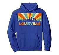 Louisville T Shirt City Skyline Retro 70s Souvenir Shirt Hoodie Royal Blue