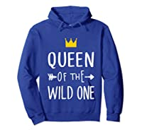 Queen Of The Wild One Thing 1st Birthday Gif Shirts Hoodie Royal Blue