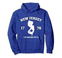 New The Garden State Vintage New Home Shirts Hoodie Royal Blue