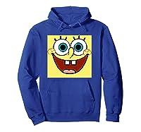 Nickelodeon Spongebob Open Smile Face T-shirt Hoodie Royal Blue