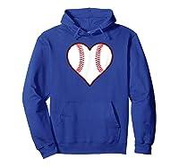 Baseball Player, Coach Or Fan Heart Shaped Baseball Graphic Shirts Hoodie Royal Blue