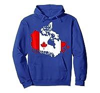 Proud Canada Flag Map T-shirts Maple Leaf Shirt Canada Day T-shirt Hoodie Royal Blue