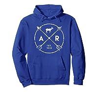 Arkansas Adventure Shirt Est 1836 Deer Arrow State Gift Hoodie Royal Blue