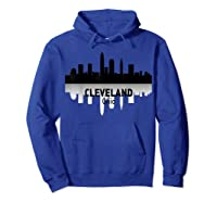 Cleveland Cleveland Skyline Native American Ther Shirts Hoodie Royal Blue