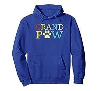 Vintage Grandpaw Grand Paw Gift Grandpa Father's Day Baseball Shirts Hoodie Royal Blue