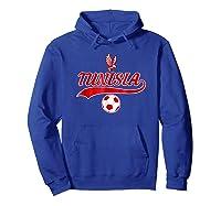 Tunisia Team World Fan Soccer 2018 Cup Fan T Shirt Hoodie Royal Blue