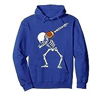 Halloween Dabbing Skeleton Football Dab Soccer Ball Shirts Hoodie Royal Blue