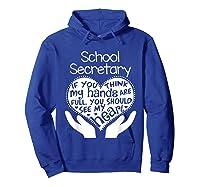 School Secretary Clerk Office Heart Group Gift Shirts Hoodie Royal Blue