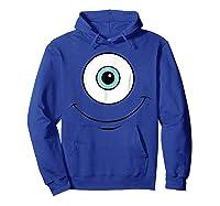Monsters Inc Mike Eye Halloween Graphic Shirts Hoodie Royal Blue