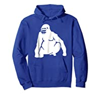 Huge Gorilla T-shirt Hoodie Royal Blue