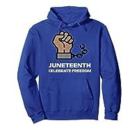 Junenth Junenth Celebration Shirts Hoodie Royal Blue