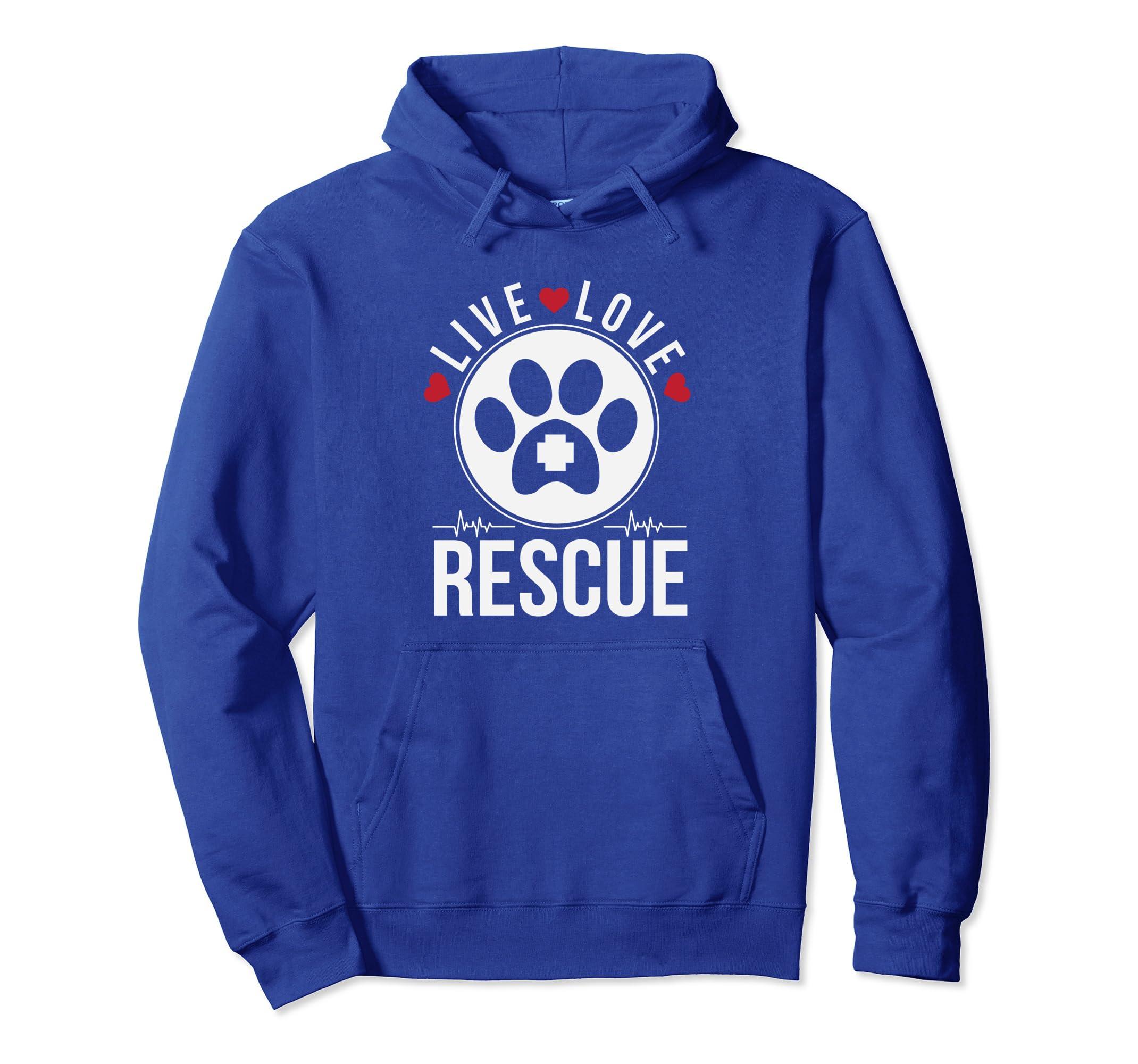 Live Love Rescue Animal Adoption Hoodie-Bawle