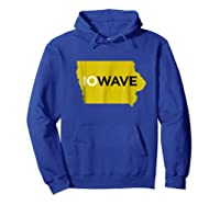 State Of Iowa Iowave Wave T For Fans And Residents Shirts Hoodie Royal Blue