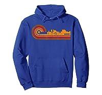 Retro Bangor Cityscape Bangor Me Skyline Shirts Hoodie Royal Blue
