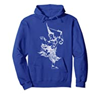 Vishnu Hindu Deity Shirt Meditation T-shirt Hoodie Royal Blue