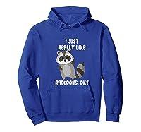 I Just Really Like Raccoons Ok Raccoon Lover Gift Tshirt Hoodie Royal Blue