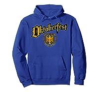 Oktoberfest German Eagle Shield Classic Vintage Shirts Hoodie Royal Blue