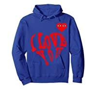 Heart For Comme Lovely In The Des Gift T-shirt Of Garcon Tee Hoodie Royal Blue