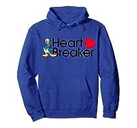 Disney Donald Valentine Heartbreaker T Shirt Hoodie Royal Blue