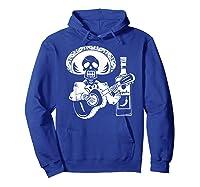 Mariachi Skeleton With Tequila Dia De Los Muertos Shirts Hoodie Royal Blue
