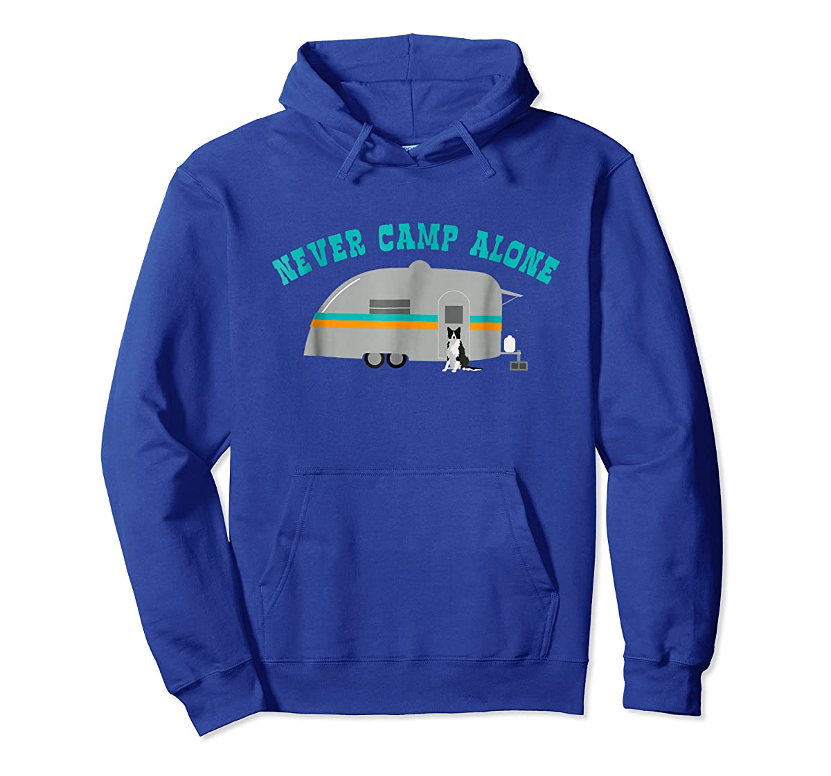 Border Collie Dog RV Shirt Funny Camping Travel Trailer-Hoodie-Royal
