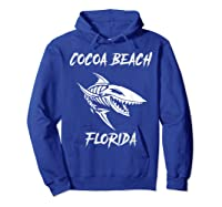 Cocoa Beach Shark Skeleton T Shirt Hoodie Royal Blue
