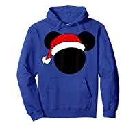 Disney Mickey Santa Hat T Shirt Hoodie Royal Blue