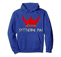 Syttende Mai Viking 17th Of May Norway Norwegian Shirts Hoodie Royal Blue