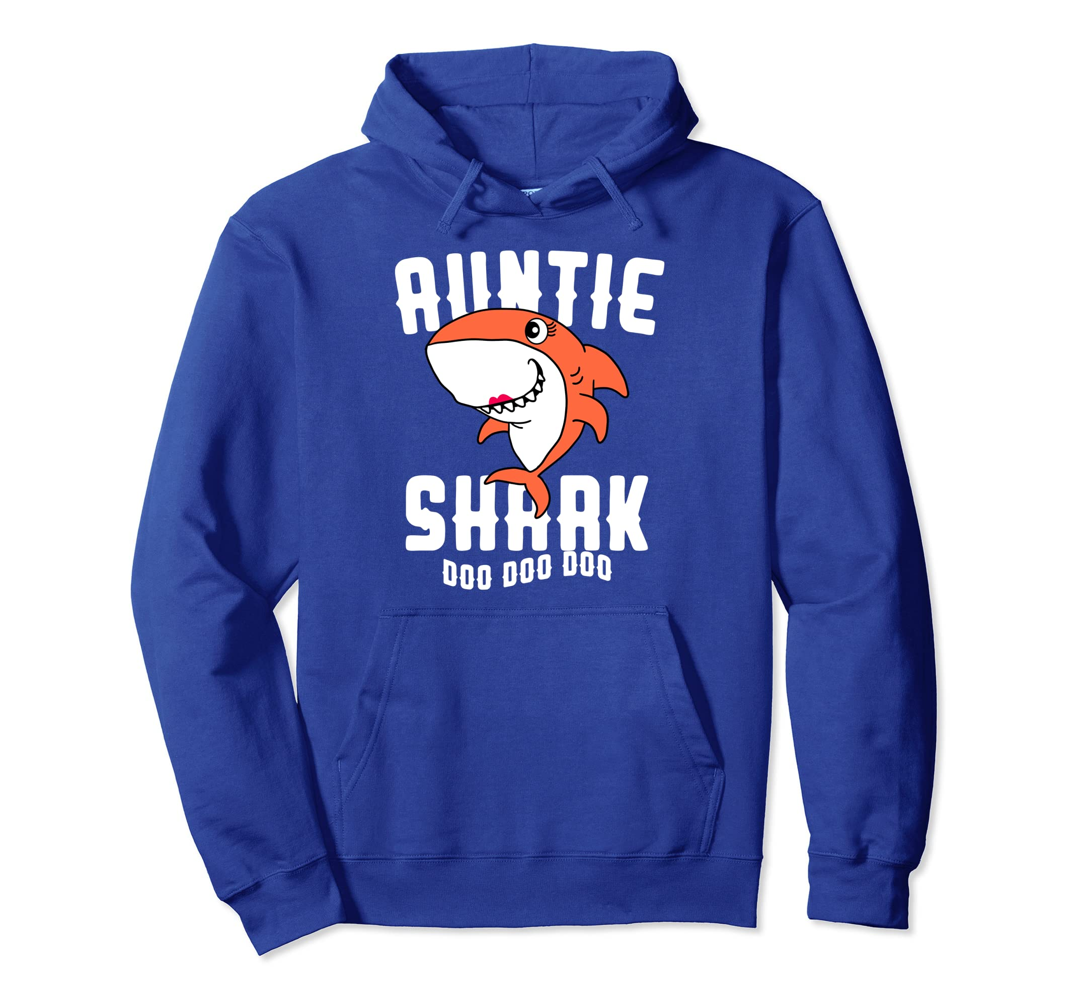 Auntie Shark Hoodie Mom Grandma Halloween Christmas Women-Teesml